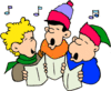 christmas Carolers 3 clip art