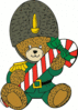 christmas Christmas guard bear clip art