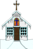 christmas Church 1 clip art