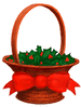 christmas Holly Basket clip art