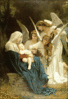 christmas Song of Angels Bouguereau clip art