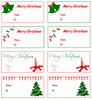 christmas TAGS FULL PAGE clip art