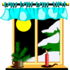 christmas Winter Scenes001 clip art