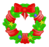 christmas Wreaths012 clip art