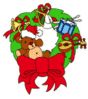 christmas Wreaths017 clip art