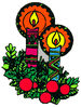 christmas aztec candle clip art