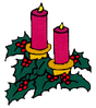 christmas candle1 clip art