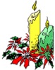 christmas candle 3 clip art