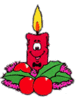 christmas candle guy clip art
