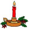 christmas candle holder 1 clip art