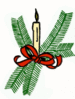 christmas candle holiday 1 clip art