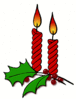 christmas candle holly 1 clip art