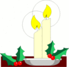 christmas candle holly 3 clip art
