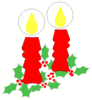 christmas candle holly 4 clip art