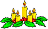 christmas candles 31 clip art
