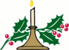 christmas christmas candle clip art