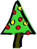 christmas christmas tree bold simple clip art