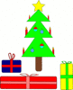 christmas christmas tree w packages clip art