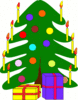 christmas christmas tree w packages 2 clip art