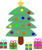christmas christmas tree w packages 3 clip art