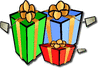 christmas gifts w tags clip art