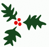 christmas holly 2 clip art