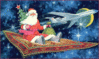 christmas magic carpet Santa clip art