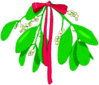 christmas mistletoe small bright clip art