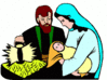 christmas nativity 4 clip art