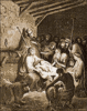 christmas nativity Dore clip art