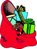 christmas sack of gifts clip art