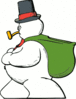 christmas snowman side view clip art