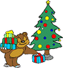 christmas tree bear clip art