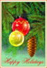 christmas tree ornaments 3 happy clip art