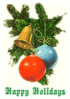 christmas tree ornaments happy holidays clip art