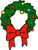 christmas wreath1 clip art
