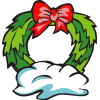 christmas wreath2 clip art