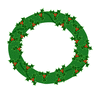 christmas wreath holly clip art