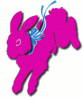 easter bunny leaping clip art