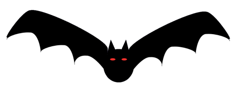 Halloween bat scary
