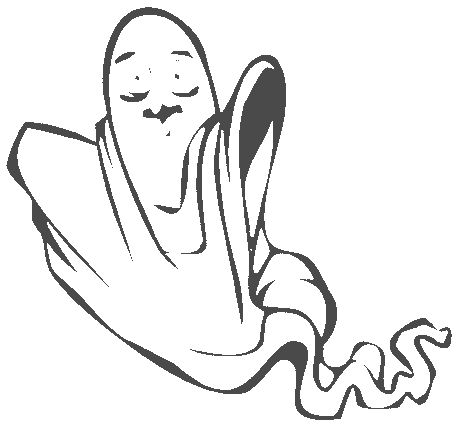 Halloween floating ghost