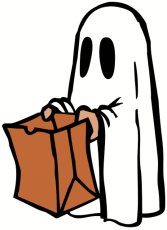 Halloween ghost with bag