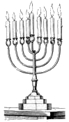 jewish holiday Menorah BW
