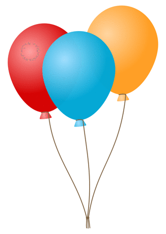 Balloons balloons blue red orange
