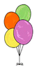 Balloons many colors balloons clip art