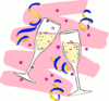 new year champagne glasses 1 clip art