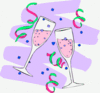 new year champagne glasses 2 clip art