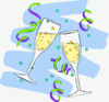 new year champagne glasses 3 clip art
