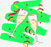 new year champagne glasses 4 clip art