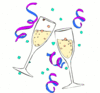 new year champagne glasses 6 clip art